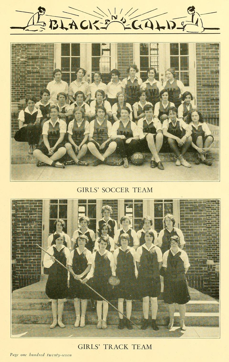 Photo of 1929 R.J. Reynolds  Girls Track Team