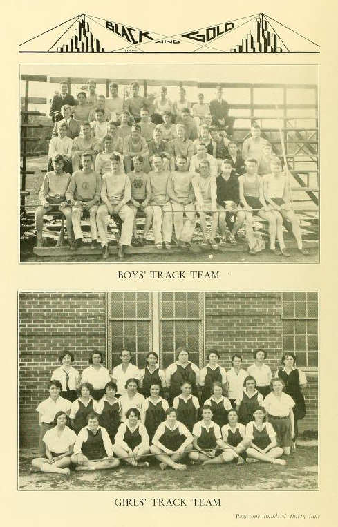 Photo of 1930 R.J. Reynolds Boys & Girls Track Teams